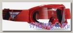 Очки для мотокросса FLY RACING FOCUS YOUTH (детские) красные прозрачные