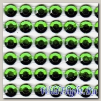 Наклейки набор (10х40) Стразы 6мм green