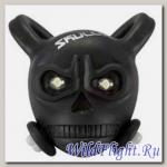 Фонарь череп 2 режима, 2 белых светодиода, черный силиконовый корпус iLUMENOX