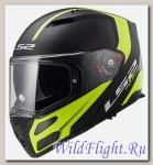 Шлем LS2 FF324 METRO RAPID Matt Black Hi-Vis Yellow