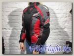 Куртка OSA текстильная черный/красный/серый (женская)
