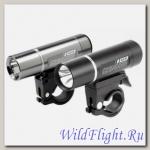KELLYS Фонарь диодный передний GUNNER, 2 режима, цвет: титаниум