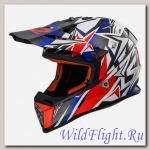 Шлем LS2 MX437 FAST MINI STRONG White Red Blue
