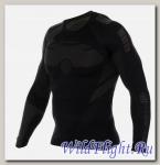 Футболка Brubeck мужские зональные DRY чёрный-графит