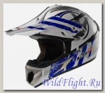 Шлем LS2 MX433 STRIPE White Blue
