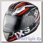 Шлем IXS интеграл HX 1000 STRIKE черно-бело-красный