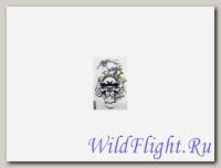 Наклейка Череп в синем пламени (стиль тату) (GPA 018) 3456