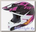 Шлем детский (кроссовый) Fly Racing KINETIC IMPULSE розовый/черный/белый глянцевый (2015)