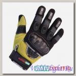 Перчатки MOTOCYCLETTO NETTO желтый, текстиль Iphone touch