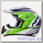 Шлем AFX FX-17 COMP PEARL WHITE/GREEN/BLUE