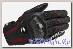 Перчатки кожаные RS Taichi RST390 black/red r