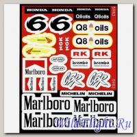 Наклейки набор (22х32) Marlboro, Honda