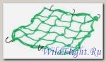 Сетка для крепления багажа зеленая (4мм, 40х40см) мет.крючки