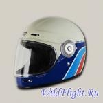 Шлем (интеграл) Origine VEGA Classic белый/синий/красный глянцевый