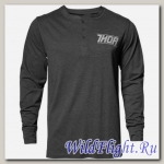 Футболка THOR CORP HENLEY LONG SLEEVE GRAY