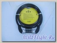 Противоугонное устройство-трос (замок кодовый) с подсветкой 10мм 120см