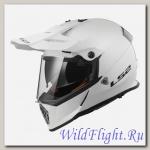 Шлем LS2 MX436 PIONEER single mono GLOSS WHITE