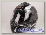 Шлем RSV Racer Dust чёрно-серебристый (Dust Grey)