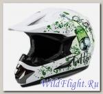 Шлем кроссовый Avantis Tattoo White