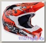 Шлем (кросс) LAZER SMX Dirty оранжево-белый