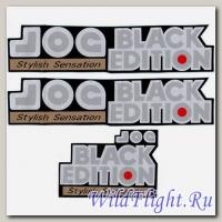 Наклейки (3шт) (10х26) Jog black edition