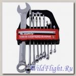 Набор ключей комбинированных (9шт) 6-22мм CrV MATRIX полир. хром