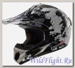 Шлем LS2 MX433 BLAST White Black Titanium