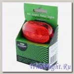 Фонарь велосипедный KAGAMI 5 RED LED, 4 функции - 404 MID