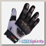 Перчатки MOTOCYCLETTO NETTO белый, текстиль Iphone touch