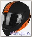 Шлем (модуляр) Origine Riviera Line черный/оранжевый матовый