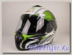 Шлем RSV Racer Dust бело-зеленый (Dust Green)