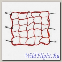 Сетка для крепления багажа красная (4мм, 40х40см) мет.крючки 57022, HF111126, CF-24, RSCN-002