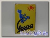 Знак винтажный VESPA тип 3