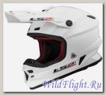 Шлем LS2 MX456 HPFC SINGLE MONO Gloss White