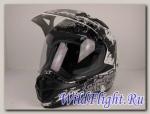 Шлем RSV Korsar Skull чёрный (Decal C, Black)