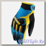 Перчатки THOR SPECTRUM BLUE/BLACK/YELLOW
