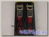 Стропы универсальные для крепления багажа (набор), 2 шт., красные/оранжевые
