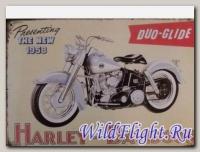 Знак винтажный HARLEY-DAVIDSON (20*30) 1958
