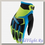 Перчатки THOR YOUTH SPECTRUM GREEN/BLACK/BLUE