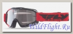 Очки для мотокросса FLY RACING ZONE (2016) красные/черные, прозрачные
