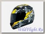 Шлем THH TS-42 WHT/YELLOW 2-стекла