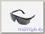 Очки для езды на мотоцикле ветрозащитные, ТОНИРОВАННЫЕ, черные + чехол
