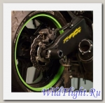 Слайдеры Crazy Iron в ось заднего колеса для Kawasaki ZX-6R ОТ 13 -15