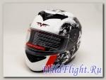 Шлем Vcan 121 интеграл white / plid