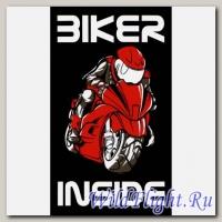 Наклейка Crazy Iron BIKER INSIDE Red