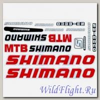 Наклейки набор (23х36) Shimano1