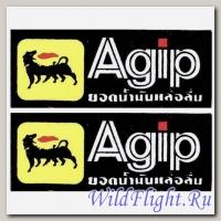 Наклейки (пара) (6х8) эмблема Agip
