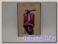 Знак винтажный VESPA тип 1