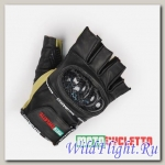 Перчатки MOTOCYCLETTO без пальцев HALF-FINGER BEIGE, кожа
