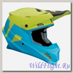 Шлем Thor SECTOR LEVEL S8 OFFROAD BLUE/LIME MATTE